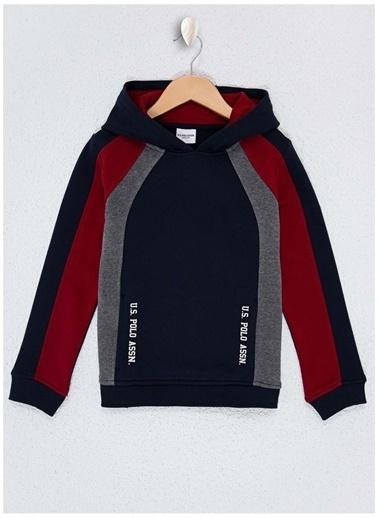 U.S. Polo Assn. U.S. Polo Assn. Baskılı Lacivert Erkek Çocuk Sweatshirt Lacivert